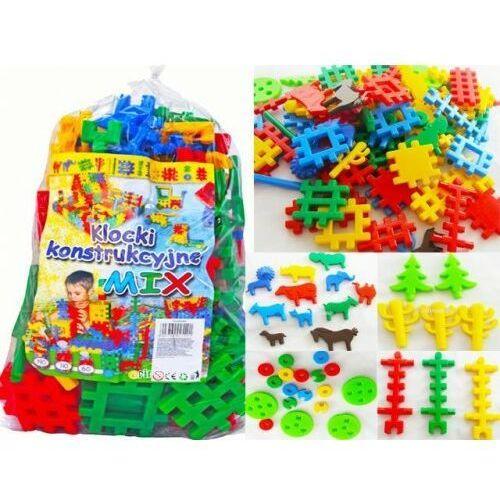Klocki konstrukcyjne mix 190 zabawka dla dzieci - OKAZJE
