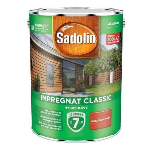 Sadolin Impregnat do drewna hybrydowy szwedzka czerwień 4,5 l (5904078212592)