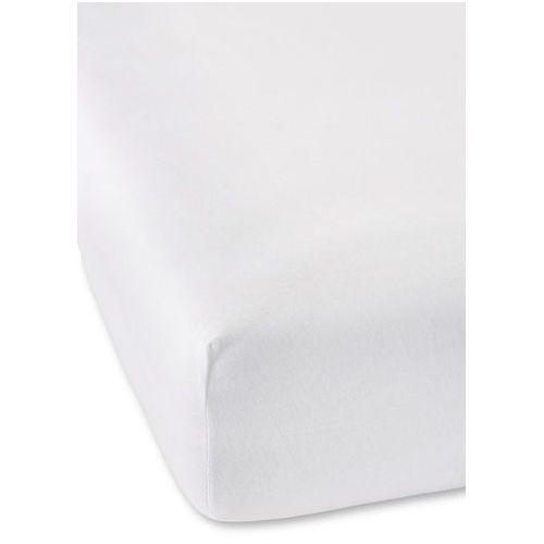 Bonprix Prześcieradło z gumką z wysokiej jakości dżerseju biały