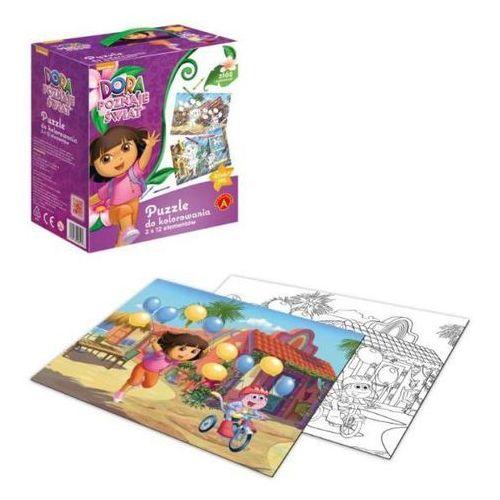 Big puzzle - do kolorowania Dora ALEX (5906018008517)