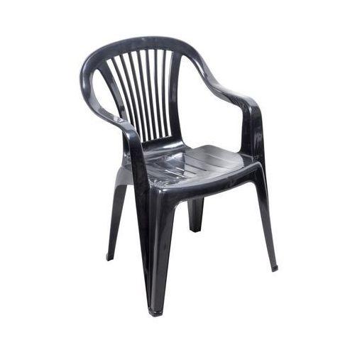 Ołer garden Krzesło ogrodowe beryl plastikowe antracytowe (5907795801209)