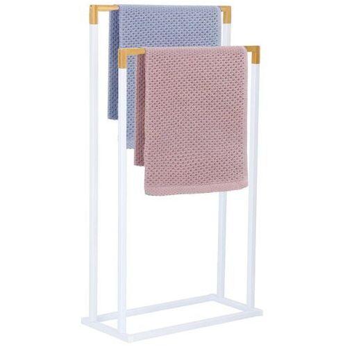 Springos Stojak łazienkowy na ręczniki 2-ramienny biały