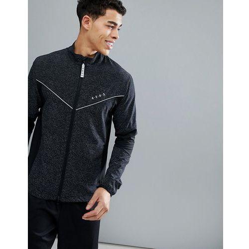 running jacket with reflective cut & sew panels - black marki Asos 4505
