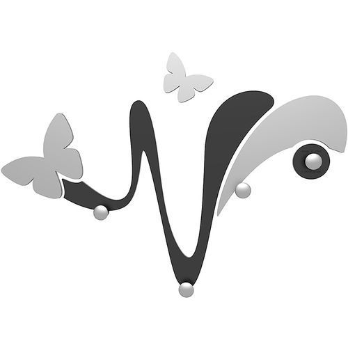 Wieszak ścienny dekoracyjny Butterfly CalleaDesign czarny (50-13-1-5)