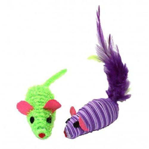 Happypet Mała myszka dla kota z grzechotką marki