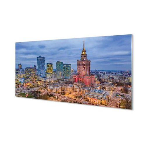 Obrazy akrylowe warszawa panorama zachód słońca marki Tulup.pl