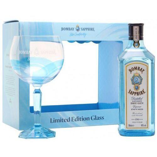Gin Bombay Sapphire w zestawie z limitowaną edycją kieliszka 0.7l