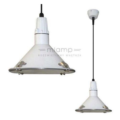 Lampa wisząca corsano lp-165/1p wh metalowa oprawa industrialny zwis biały marki Light prestige