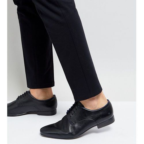 wide fit smart shoes black - black marki Silver street