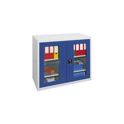 Szafka z drzwiami skrzydłowymi,z drzwiami z okienkiem, 2 półki marki Stumpf-metall