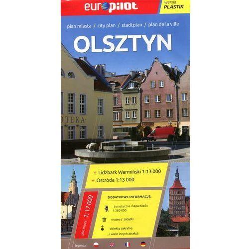 Europilot Mapa miasta laminowana Olsztyn, Lidzbark Warmiński, Ostróda skala 1:17 000