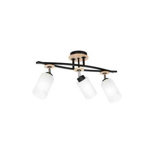 Luminex tokio 1522 plafon lampa sufitowa 3x60w e27 czarny drewno