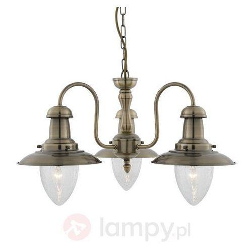 Searchlight Morska lampa wisząca fisherman, stary mosiądz
