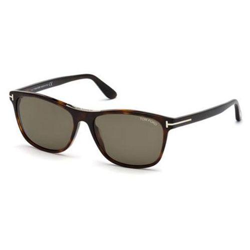 Okulary Słoneczne Tom Ford FT0629 Polarized 52H, kolor żółty