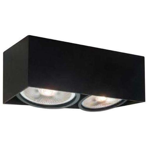 Orlicki design Natynkowa lampa sufitowa cardi ii nero prostokątna oprawa metalowy spot czarny (1000000470970)