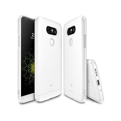 ETUI FUETAŁ RINGKE SLIM LG G5 - Biały, kolor biały