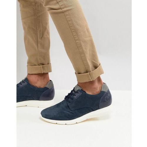 suede casual lace ups in navy - navy marki Pier one
