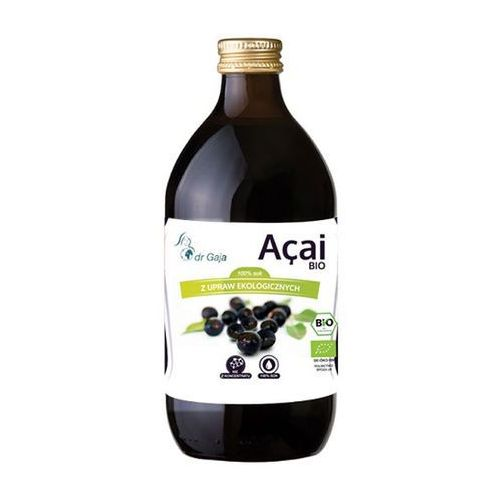 Organiczny 100% sok z jagód Acai 500ml Dr Gaja (5903111250102)