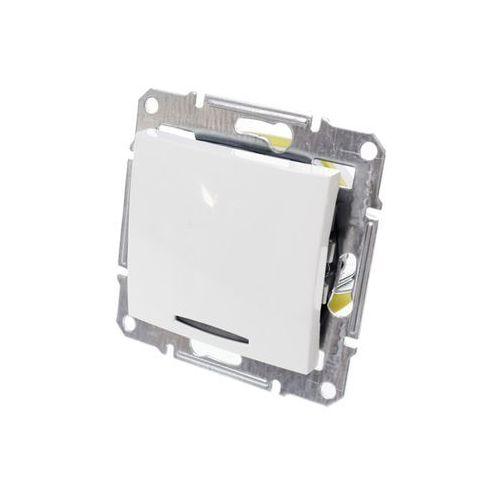 Łącznik jednobiegunowy Schneider Sedna SDN1400121 pojedynczy z podświetleniem biały (8690495033403)
