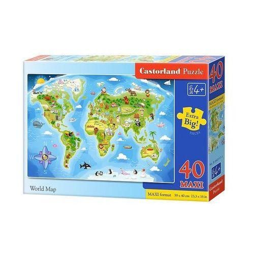 Puzzle 40 maxi - World Map CASTOR, 5904438040117_746051_001