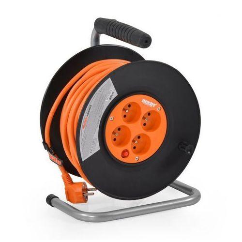 Przedłużacz kabel sieciowy na bębnie nawijany 3x1.5mm2 230v hecht 420153 20 metrów 4 wtyczki ewimax - oficjalny dystrybutor - autoryzowany dealer hecht marki Hecht czechy