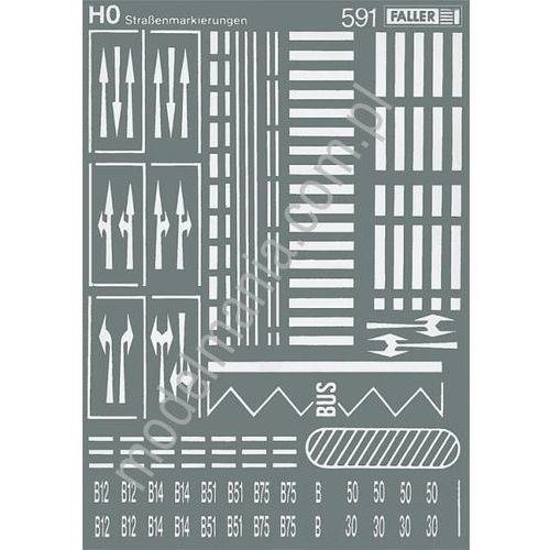 Faller Znaki poziome (kalkomania)  180536
