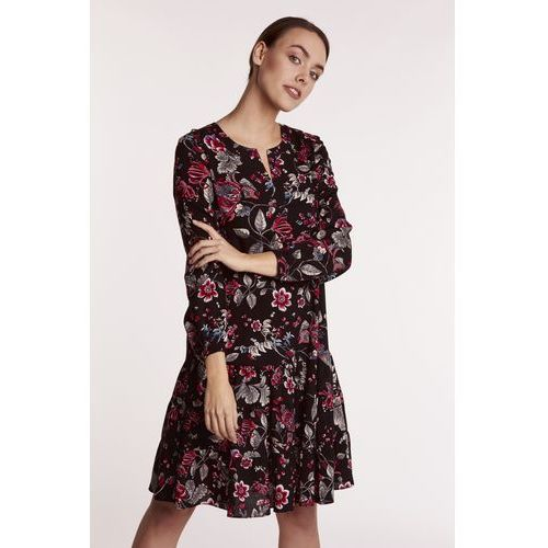 e55545e6c6 Sukienka ze strukturalnej tkaniny (Kolor  szary