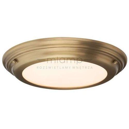 Elstead Plafon lampa sufitowa welland bath/well/f ab  okrągła oprawa do łazienki led 25w ip54 mosiądz