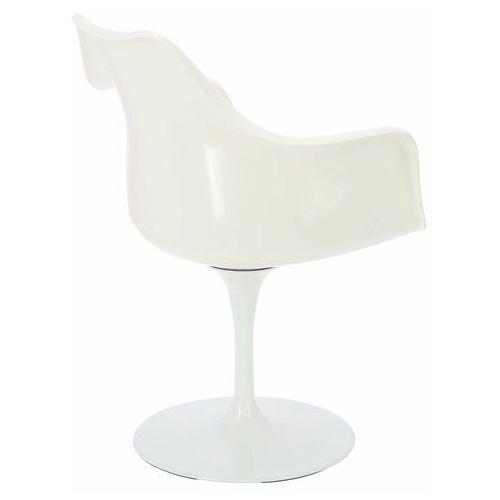 Krzesło TulAr inspirowane Tulip Armchair - czerwony   biały (5902385701952)