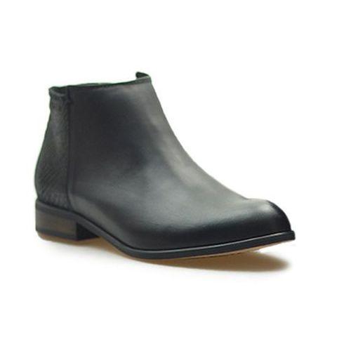 Botki Lesta 171-6444-6-10111085 Czarne lico/nubuk, kolor czarny