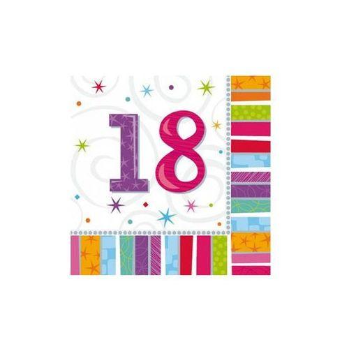 Serwetki urodzinowe na osiemnaste urodziny - 18tka - 33 x 33 cm - 16 szt.