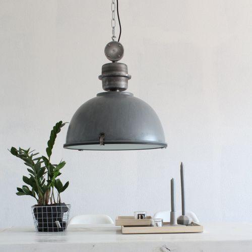 Steinhauer Bikkel Lampa wisząca Siwy, 1-punktowy - Przemysłowy - Obszar wewnętrzny - Bikkel - Czas dostawy: od 3-6 dni roboczych (8712746100273)