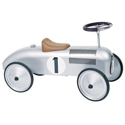 Jeździk retro wyścigowy srebrny marki Goki