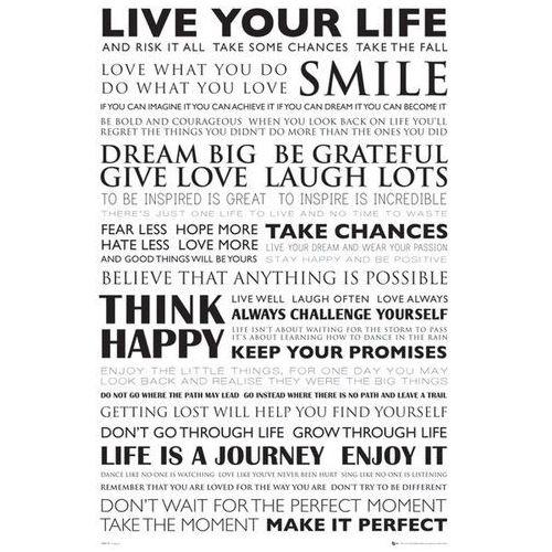 Żyj własnym życiem - live your life - plakat motywacyjny wyprodukowany przez Gb