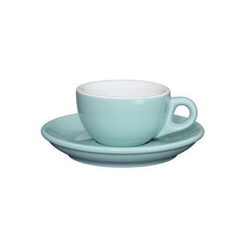 porcelanowa filiżanka do espresso ze spodkiem, 50 ml, błękitna