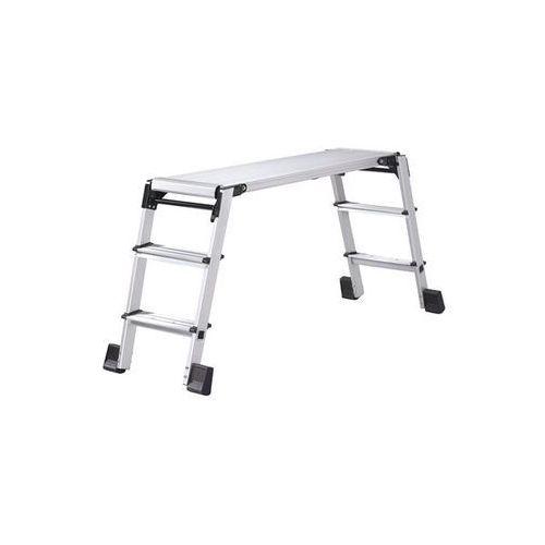 Unbekannt Aluminiowa platforma robocza, składana, z ryglem bezpieczeństwa, 3 stopnie po ob