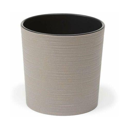 Lamela Doniczka plastikowa 19 cm szara malwa (5900119278428)
