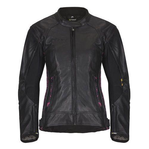 W-tec Damska skórzana kurtka motocyklowa caronina nf-1174, czarno-różowy, xs