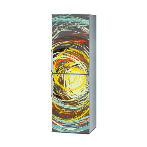 Mata magnetyczna na lodówkę - Kolorowe okręgi 4157 - produkt z kategorii- Magnesy na lodówkę