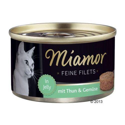 MIAMOR Feine Filets - filety mięsne smak: tuńczyk z ryżem 6x100g (4000158740489)