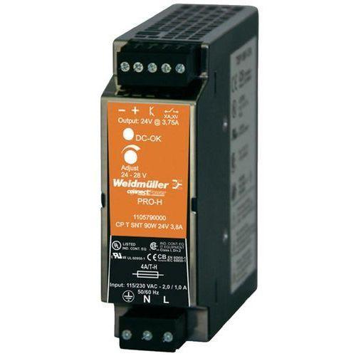 Zasilacz na szynę DIN Weidmueller CP T SNT 90W 24V 3,8A 24 V/DC 3.8 A 90 W 1 x