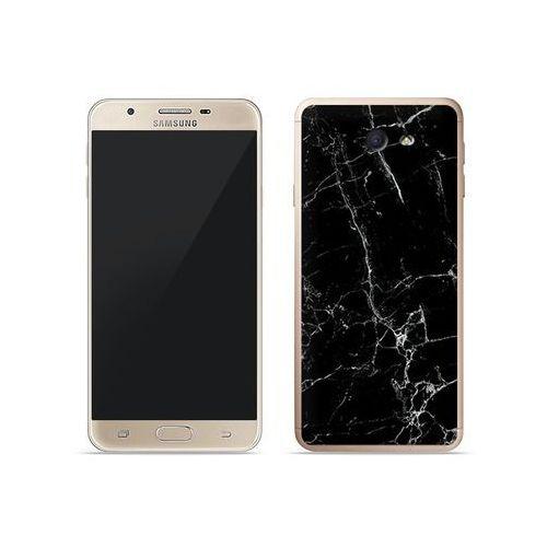Samsung Galaxy J7 Prime - etui na telefon Fantastic Case - czarny marmur