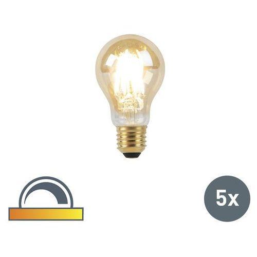 Zestaw 5 żarówek LED filament E27 8W 2000-2600K ściemnialna regulowana barwa światła