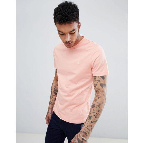 Original penguin small logo crewneck slim fit t-shirt in pink - pink