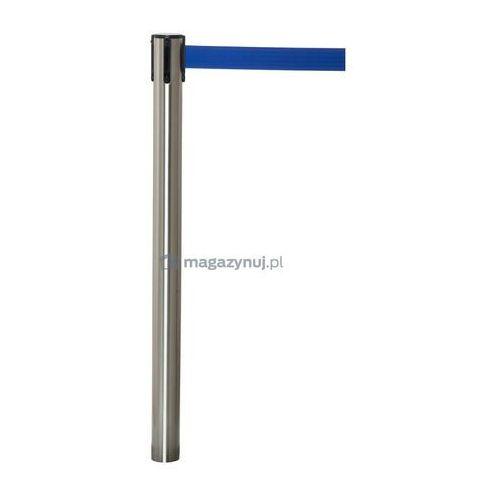 Pachołek/słupek advance montowany w podłoże na kotwy z rozwijaną taśmą, chromowany połysk (taśma brak) od producenta Tensator