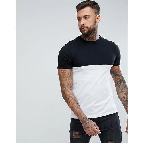 New Look Colour Block T-Shirt In Black And White - Black, w 5 rozmiarach