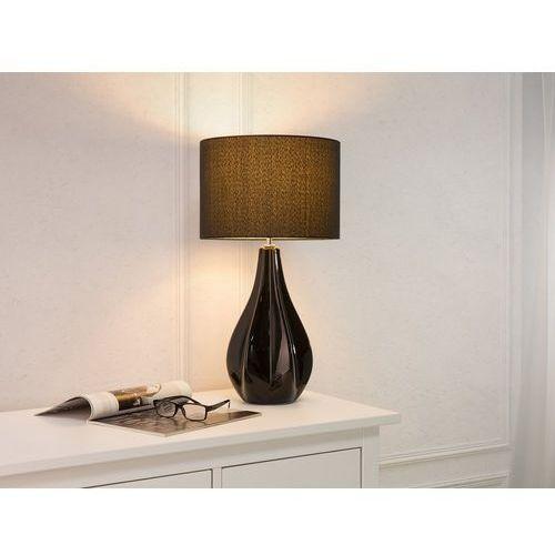 Nowoczesna lampka nocna - lampa stojąca w kolorze czarnym - santee marki Beliani