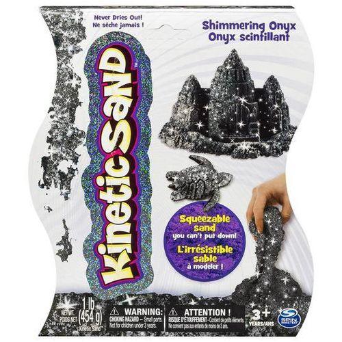 Kinetic sand - połyskujący piasek 454g czarny marki Spin master