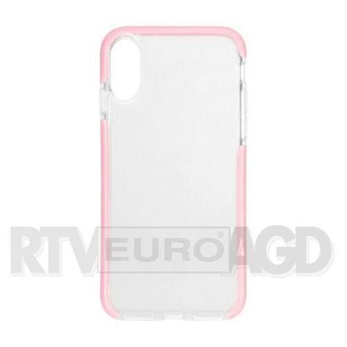 Etui XQISIT Mitico do Apple iPhone X Różowy 30008 (4029948065533)