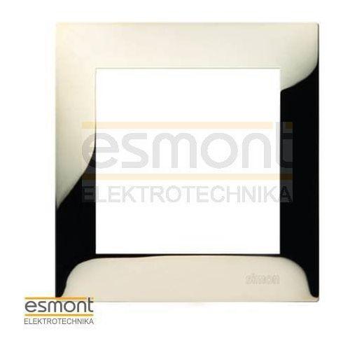 Ramka pojedyncza Simon 54 DR1/66 metalowa złota metal Kontakt-Simon, kolor złoty